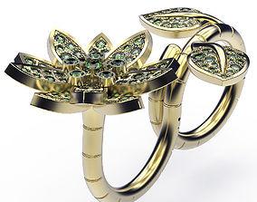 3D print model Ring Lotus