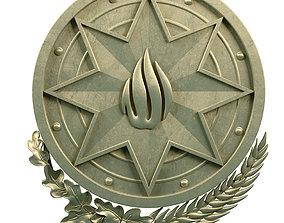 3D The national emblem of Azerbaijan