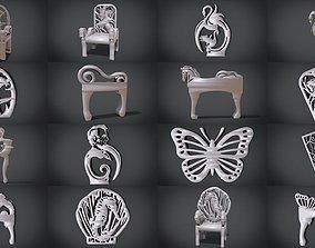 Ornament Furniture Set 3D