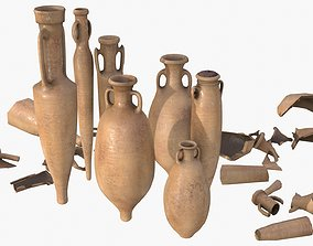 3D asset Amphora - Old Terracotta