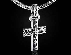 Stylish cross with celtic patterns 456 3D printable model