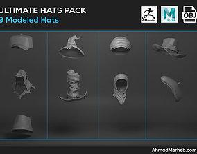 3D Ultimate Hats Pack Models