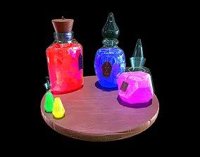 3D model Stylized Set of Potions