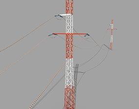 Electricity Pole 29 3D asset