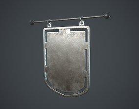 3D asset Metal Signboard