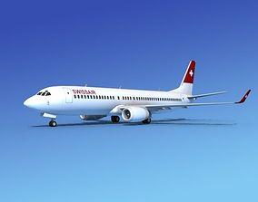 3D model Boeing 737-800 Swissair