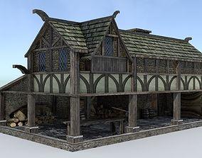3D asset Medieval Village Sawmill