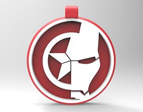 3D print model Iron man captain america keychain