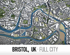 3D model Bristol - city and surroundings