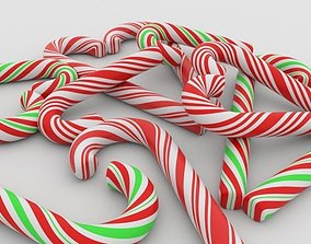 Candy cane 3D candie