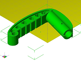 3D print model baby carriage handle