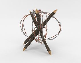 3D model Barb Wire Obstacle