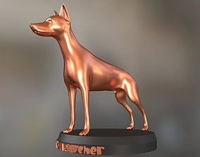 3D printable model cute Doberman Pinscher