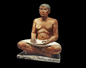 The Seated Scribe from the Louvre museum 3D