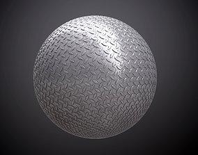 Metal Diamond Plate Dirty Seamless PBR Texture 3D