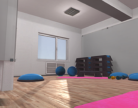 3D Fitness hall - interior and props
