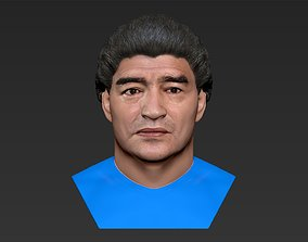 Diego Maradona bust ready for full color 3D
