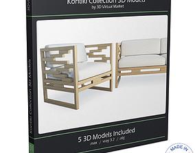 3D Kontiki Wooden Outdoor Furniture
