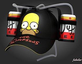 Homer beer hat 2 3D model