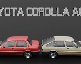 Toyota Corolla AE82 Sedan and Liftback 3D model