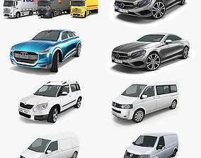 VR / AR ready 10 - City cars models 3D model