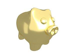 Piggy Bank V1 011 3D asset