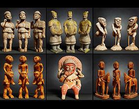 6 Statues Collection 3D asset