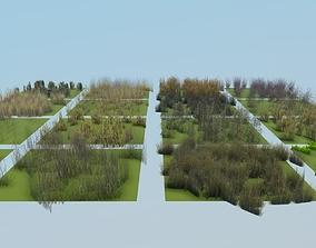 3D model ground plants pack 03