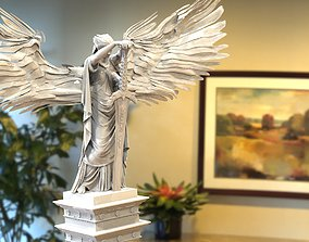 Angel statue with wings 3D model