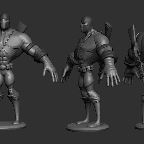 Stylized concept character