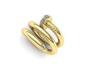 3D printable model Diamond ring tree sizes Two loops