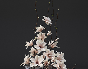 3D model Magnolia arrangement