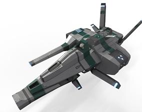 3D asset Strike Ship