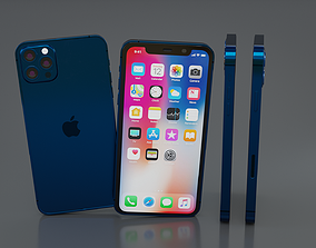 3D model game-ready IPhone 12 pro max