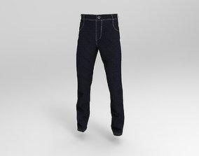 3D asset Jeans model made with Marvelous Designer