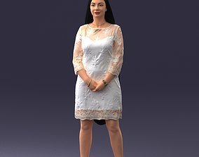 Fashion woman in evening dress 0714-1 3D Print Ready