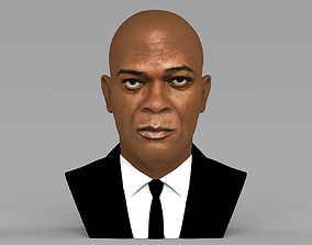 Samuel L Jackson bust ready for full color 3D