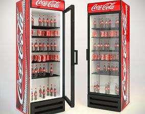 3D model refrigerator coca-cola