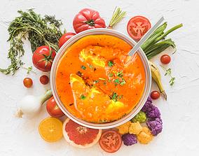 3D Soup 2 plates