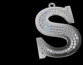 3D print model Very nice pendant S letter
