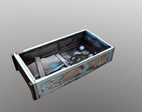 3D model Old abandoned wardrobe cupboard