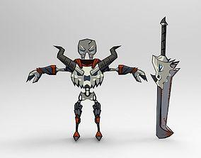 3D asset Fallen Knight