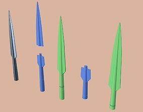 Beskar Spear tip from Mandalorian 3D printable model