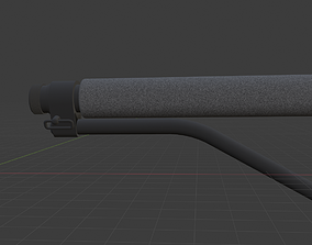 M4 AR-15 Double Star Skeleton Stock 3D