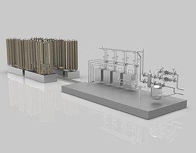 3D Industrial boiler room industrial