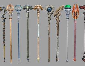weapon Scepter 3D asset
