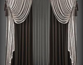 3D model low-poly textile Curtain
