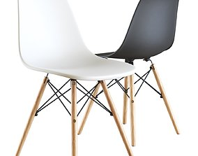 3D model Eames style DSW white chair