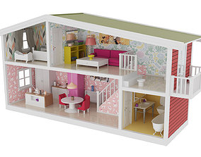 Childrens Dollhouse 3D asset