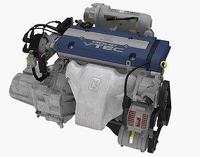 3D model Honda Prelude SiR H22A engine